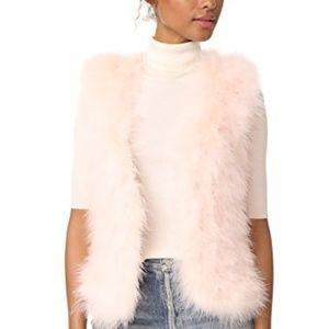 NWT Club Monaco Rose Feather Vest sz Large